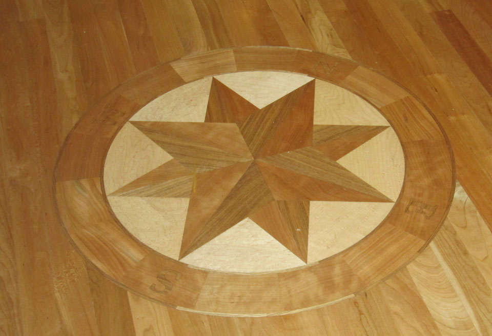 Wood Floor Inlay